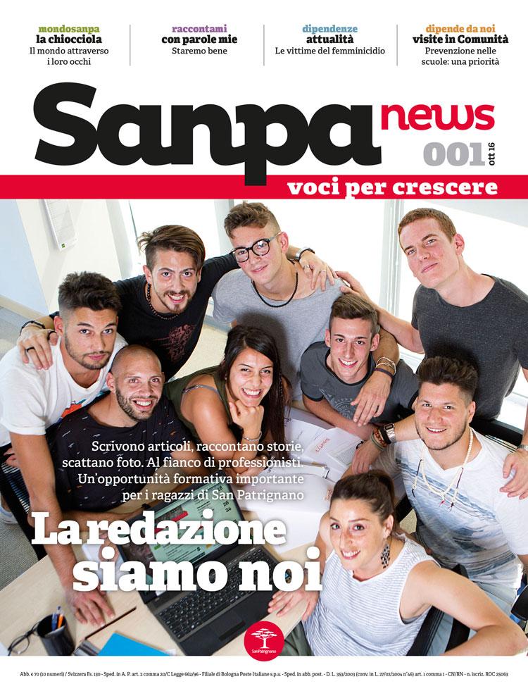 SanpaNews - giornale San Patrignano - Copertina numero 001